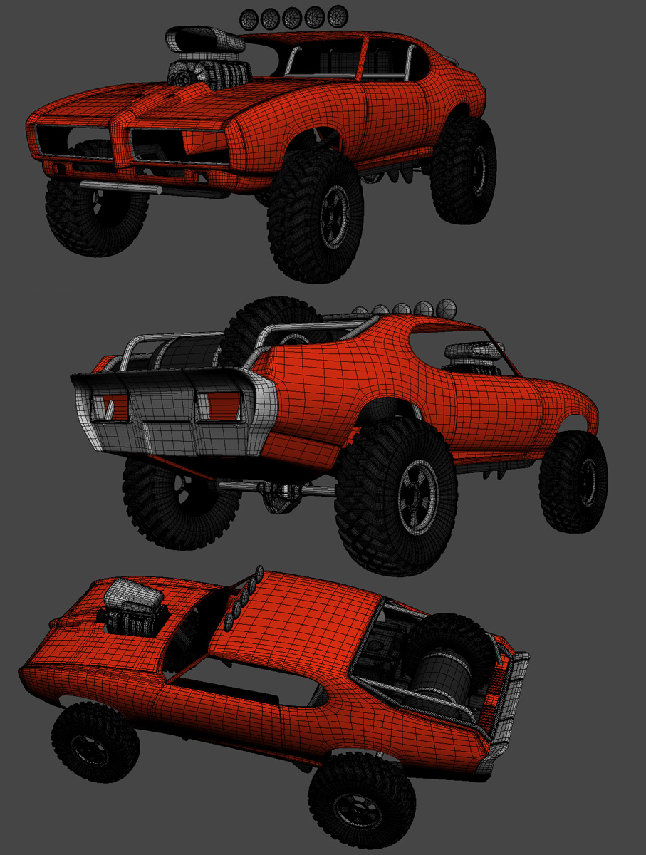 Humster3D car render competition - Pontiac The Judge 4x4 Mad Max Style