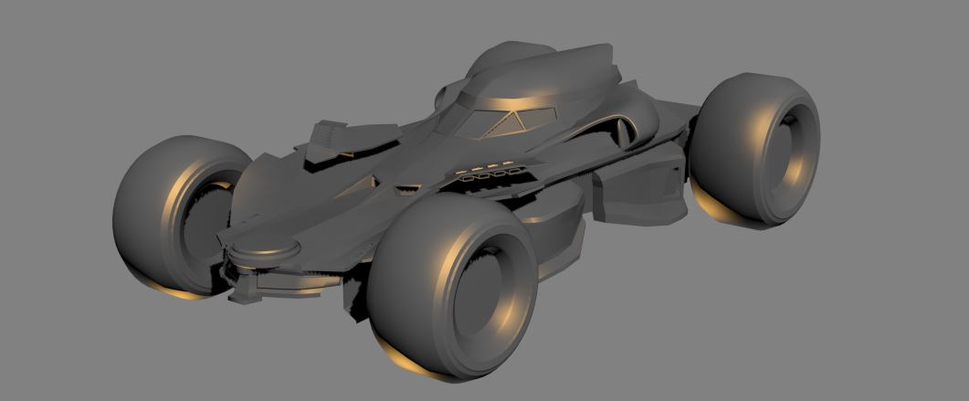 Humster 3D Car Rendering Competition - Batman v Superman Batmobile