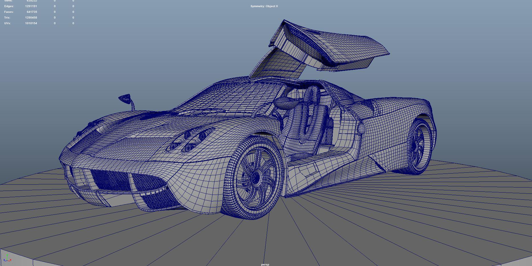 Car Render Challenge 2016 Pagani huayra-modeling