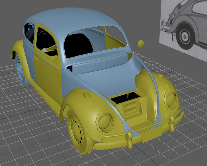 Car Render Challenge 2016 - VW Beetle