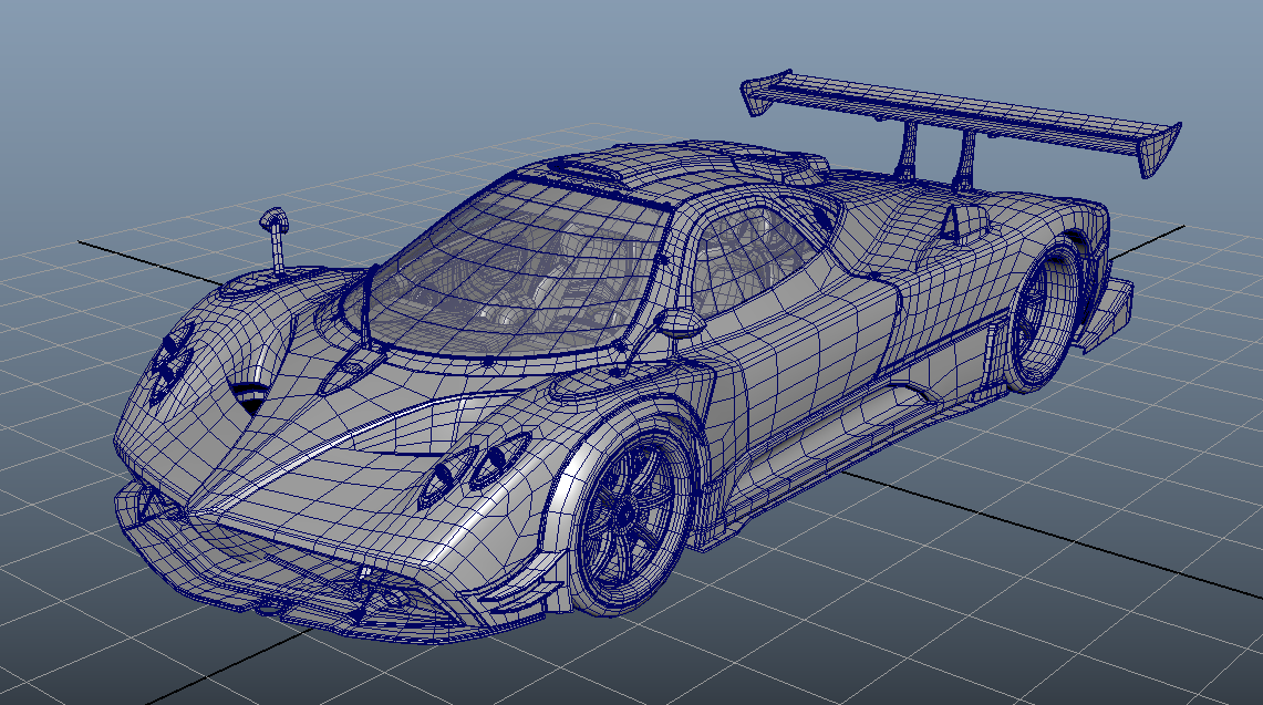 Zonda R in Garage