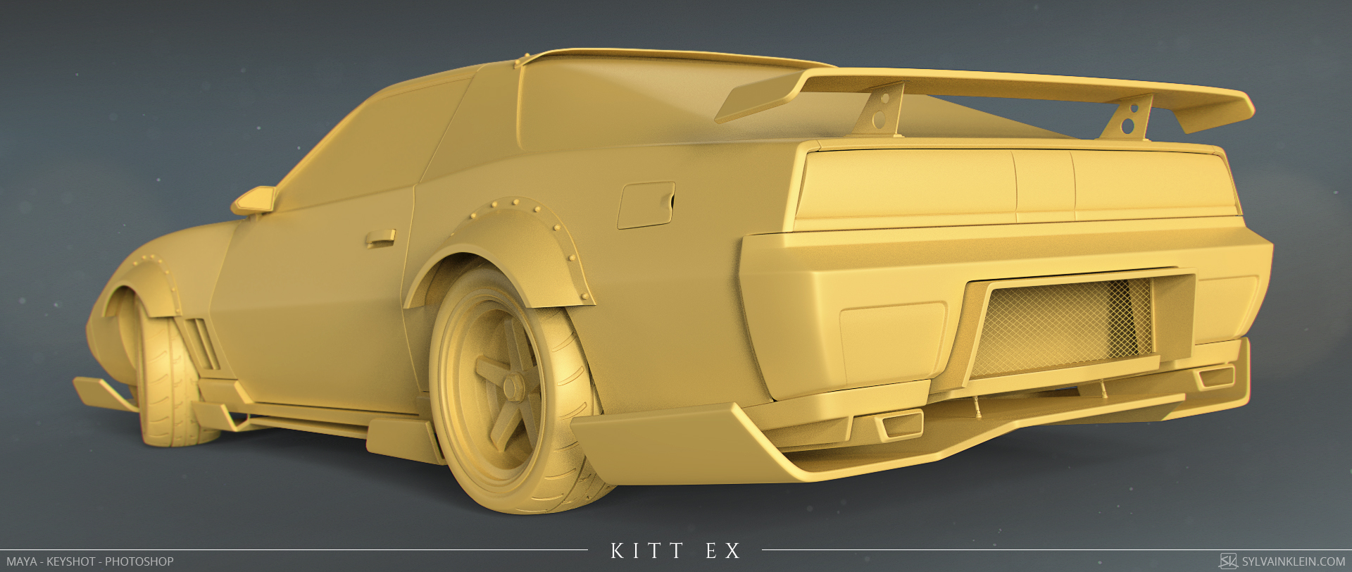 Humster 3D Car Rendering Competition - KITT EX (K2000 tribute)