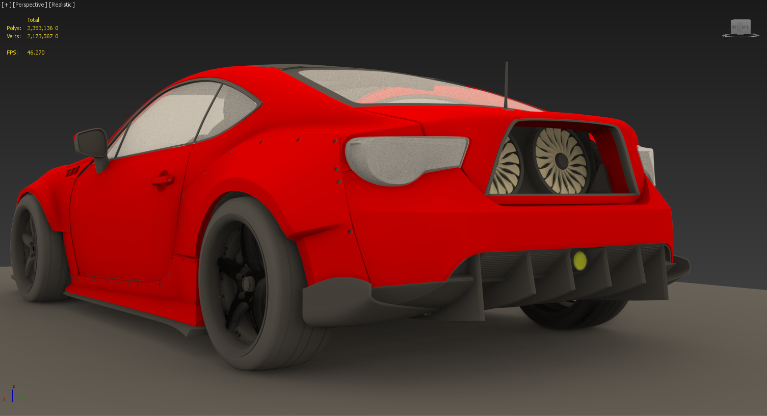 Back View- Toyota GT86/Formula Drift