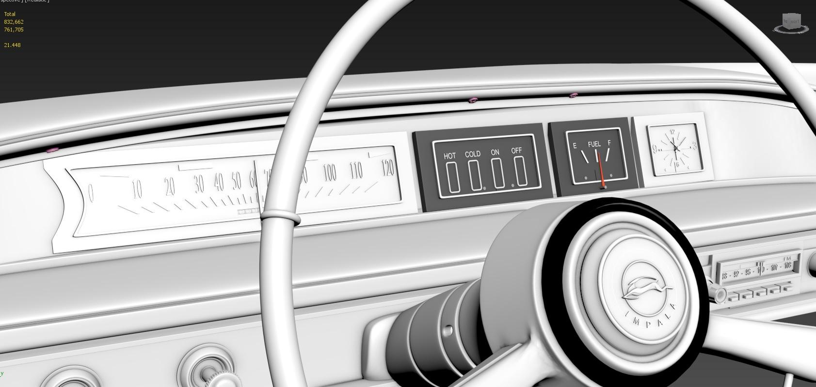 Humster·3D car render challengue 2016 // David Villanueva. PROJECT TITLE ** LA COQUETA**