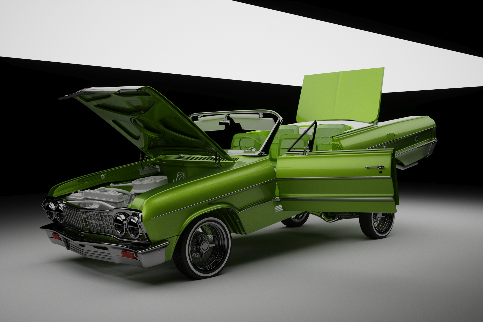 Humster·3D car render challengue 2016 // David Villanueva. PROJECT TITLE ** LA COQUETA**