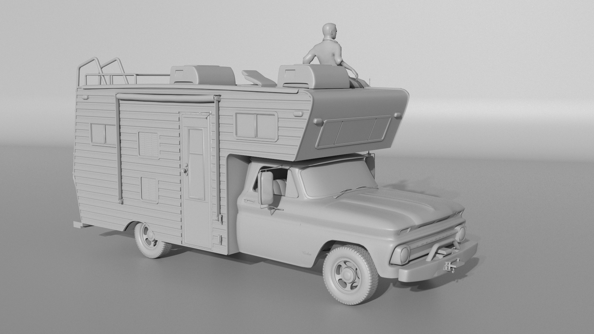 Car Render Challenge 2016 - Ford F250 (1971) Camper.