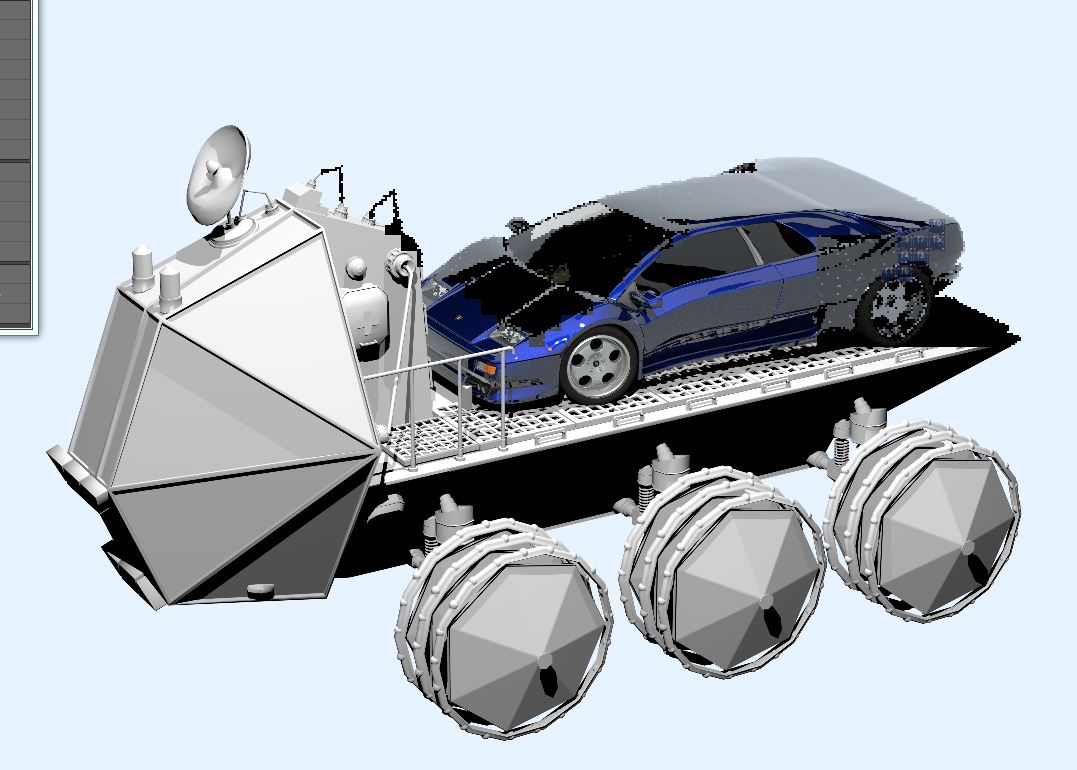 Humster 3D Car Rendering Competition - Lamborghini for Moon museum