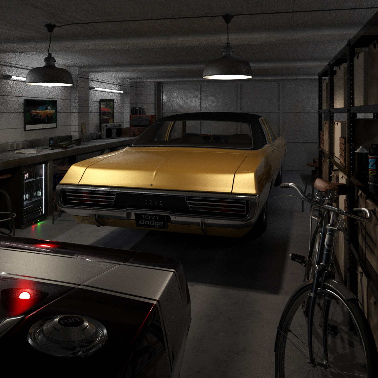 CAR RENDER CHALLENGE - DODGE GARAGE