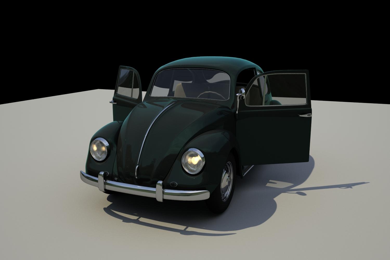 Car Render Challenge 2016 - Volkswagen Beetle circa 1966