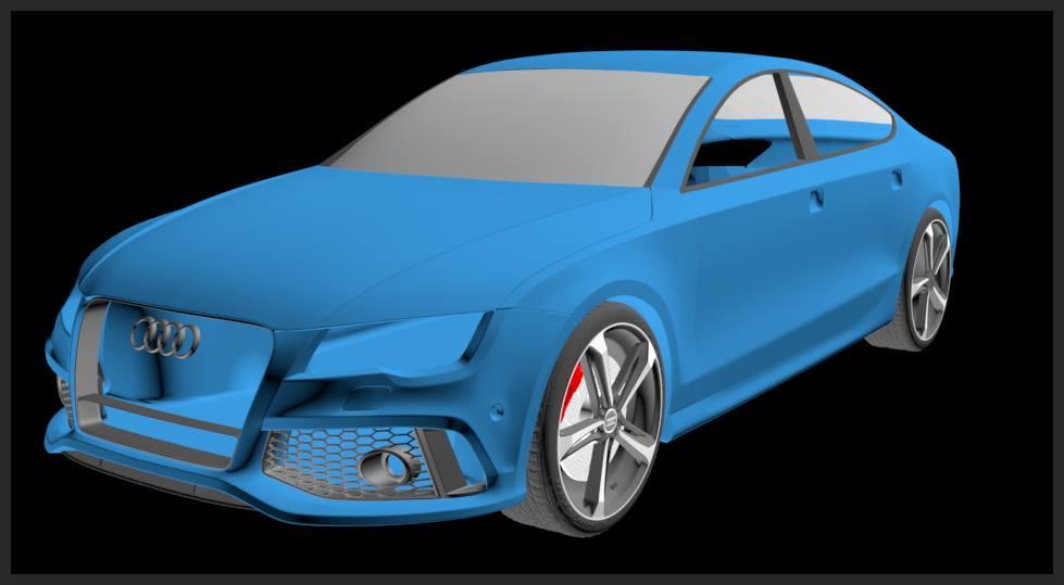 Car render Challenge 2017 - Audi RS7
