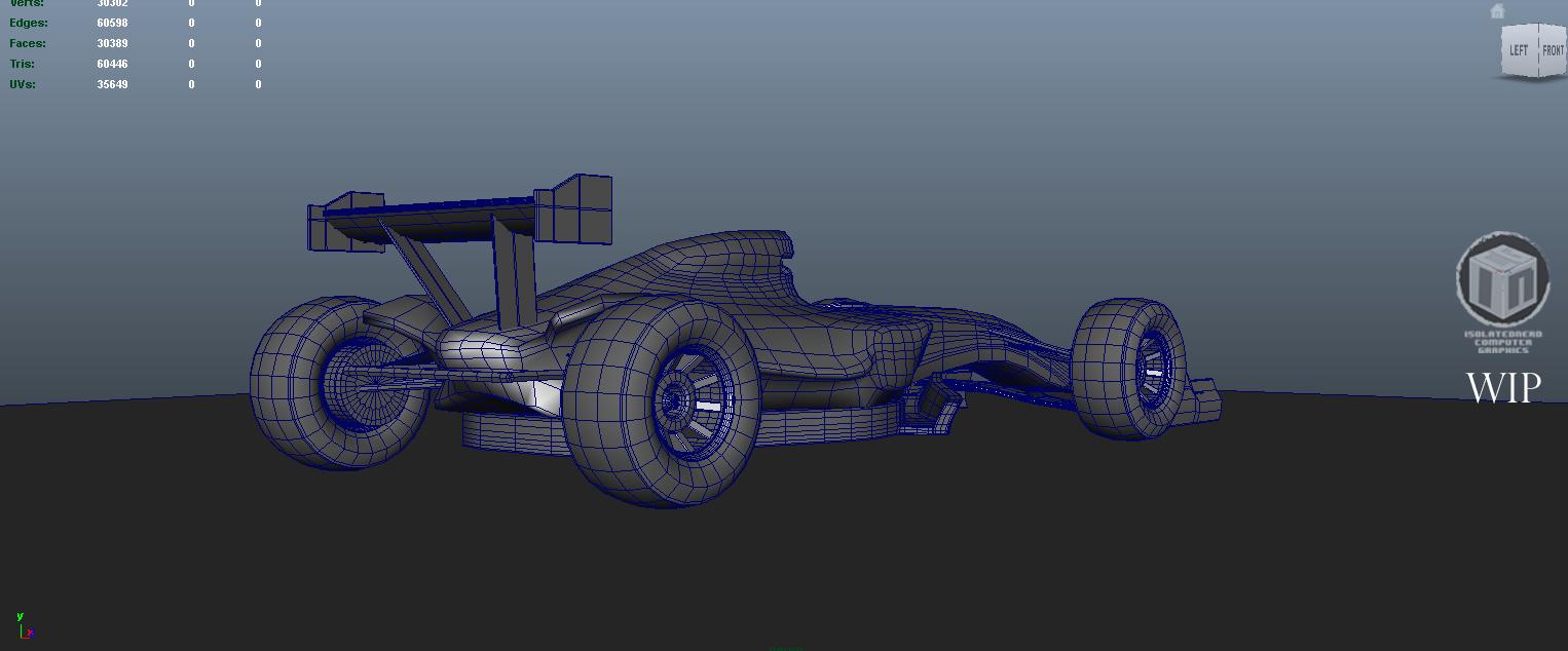 Car render challende 2017 - Formula 1 car