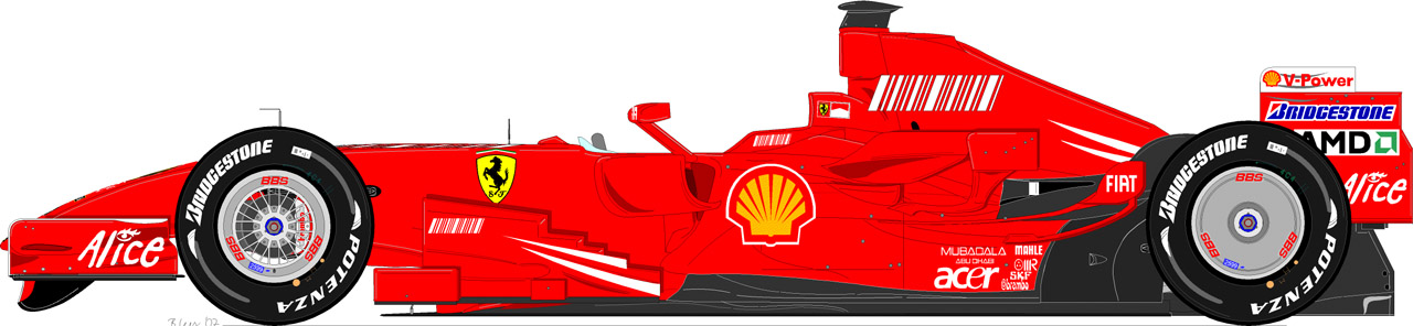 Car Render Challenge 2017 - Ferrari F2007