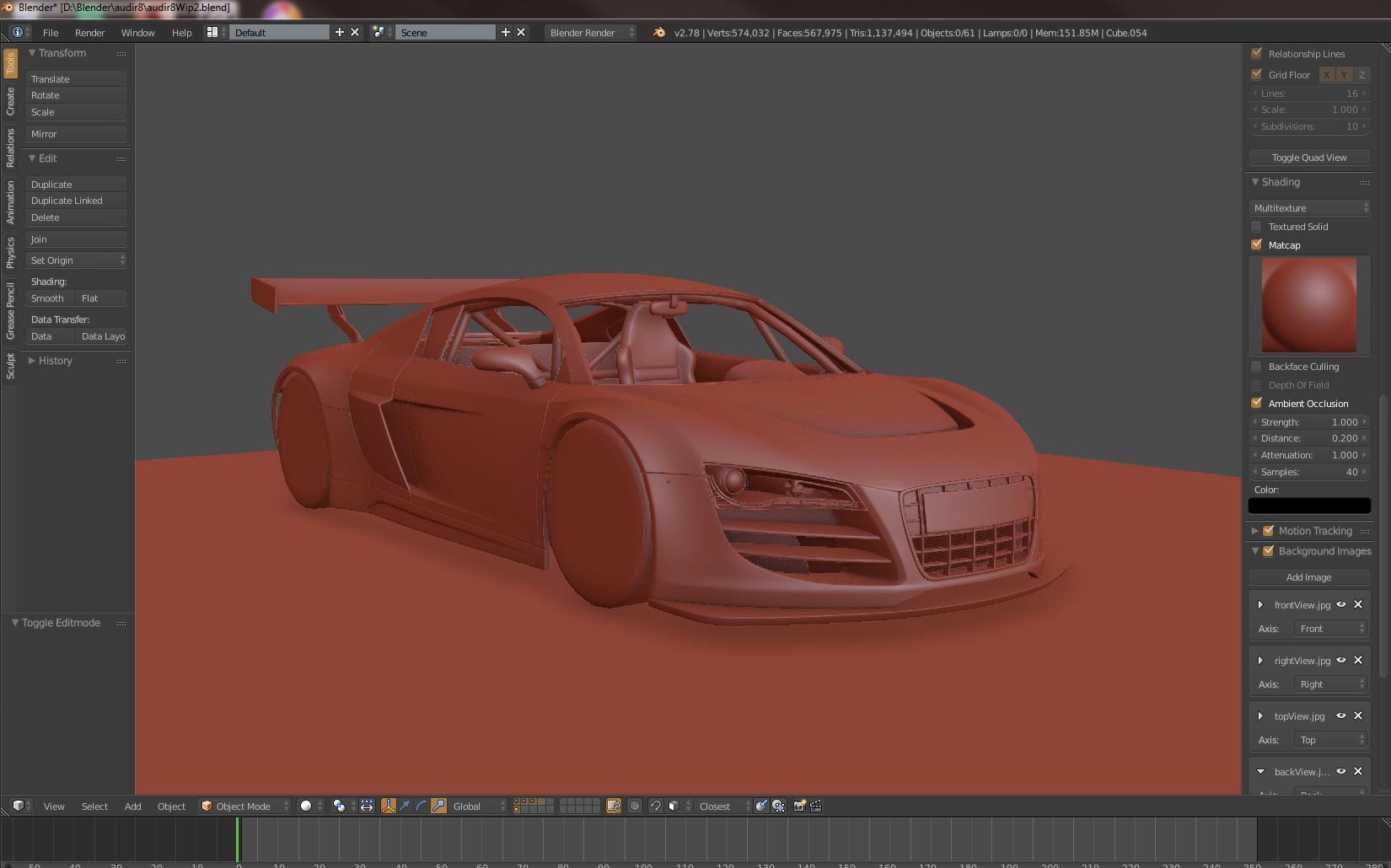Car Render Challenge - Audi r8