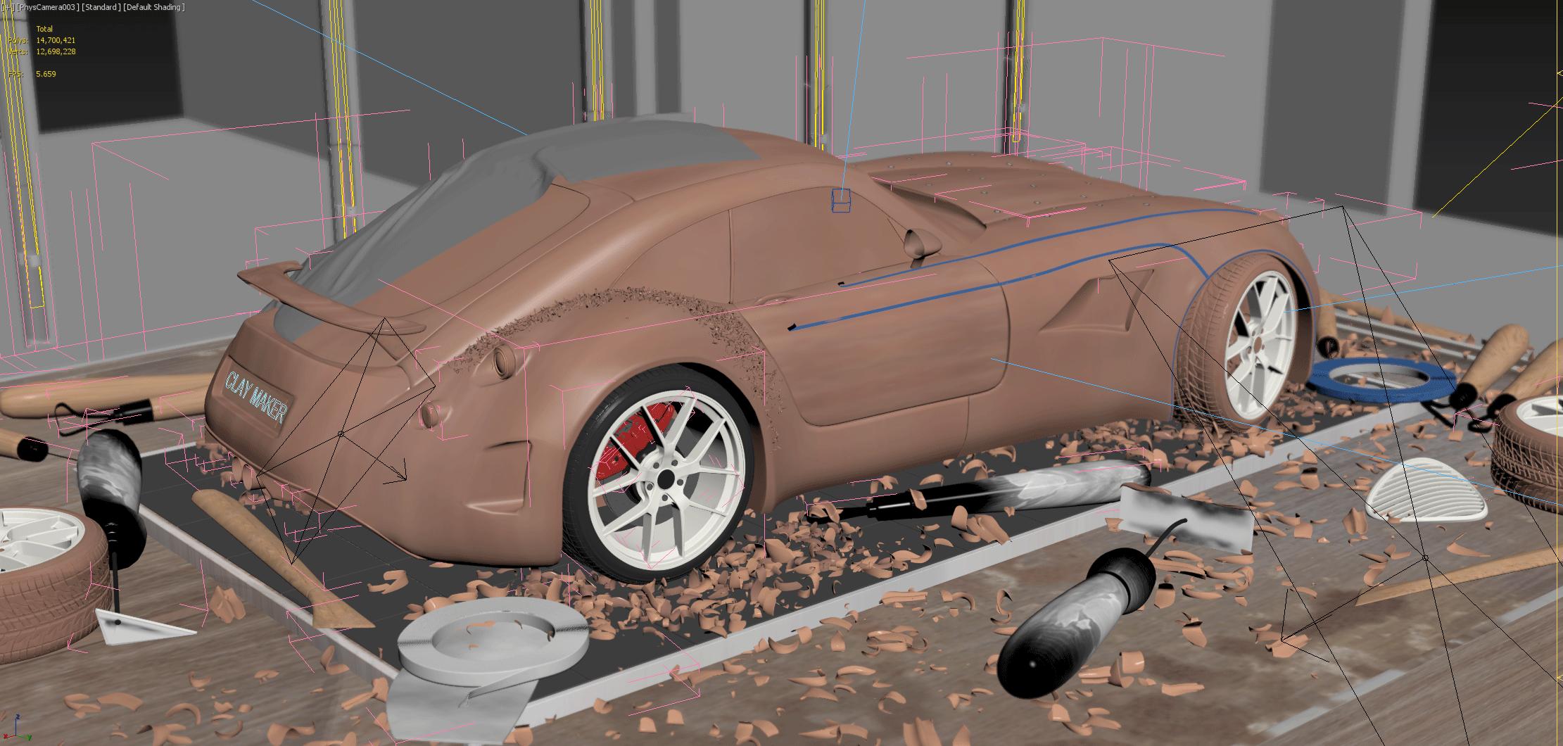 Car Render Challenge 2017- Kevin Boulton