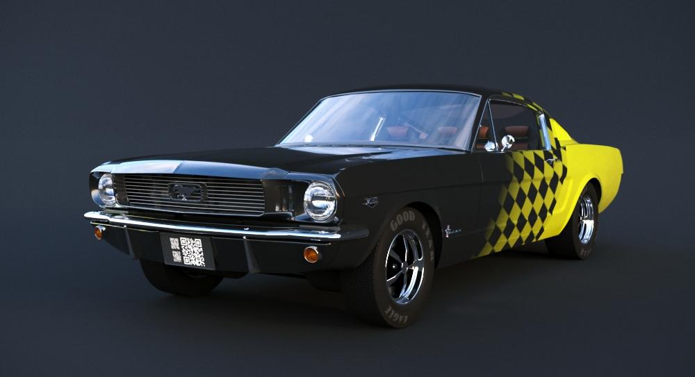 Car Render Challenge 2017 - 66 Mustang Retrofit
