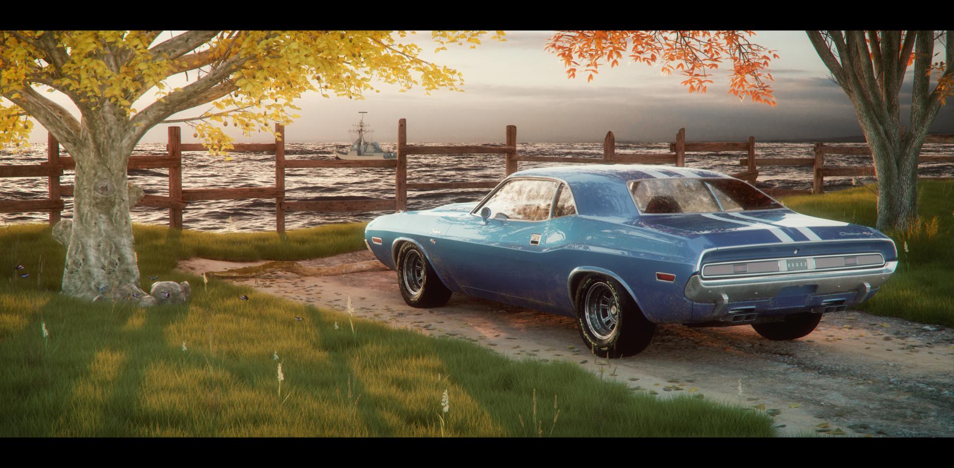 Car Render Challenge 2017 - Dodge challenger r/t