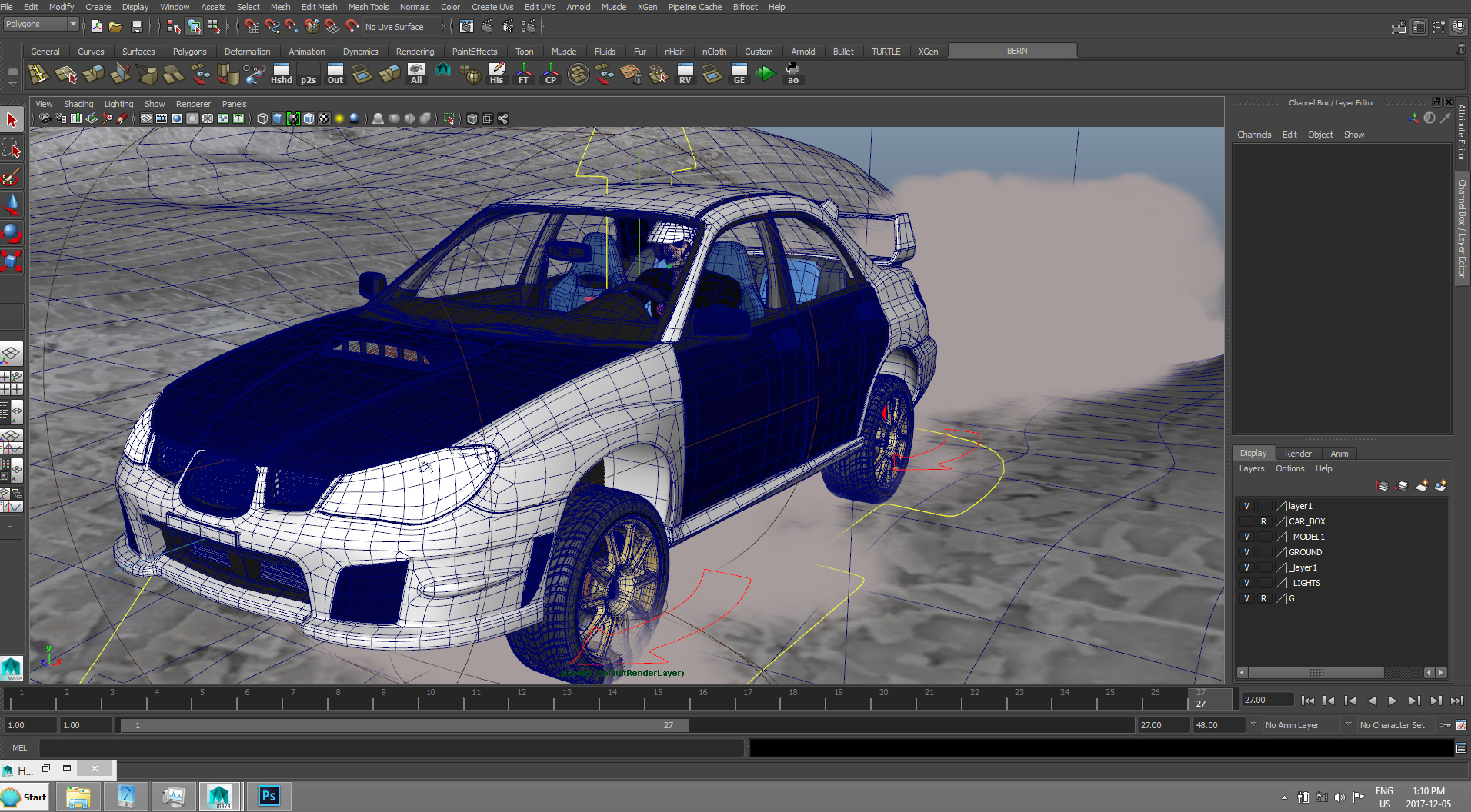 Car Render Challenge 2017 Subaru sti 07 modified