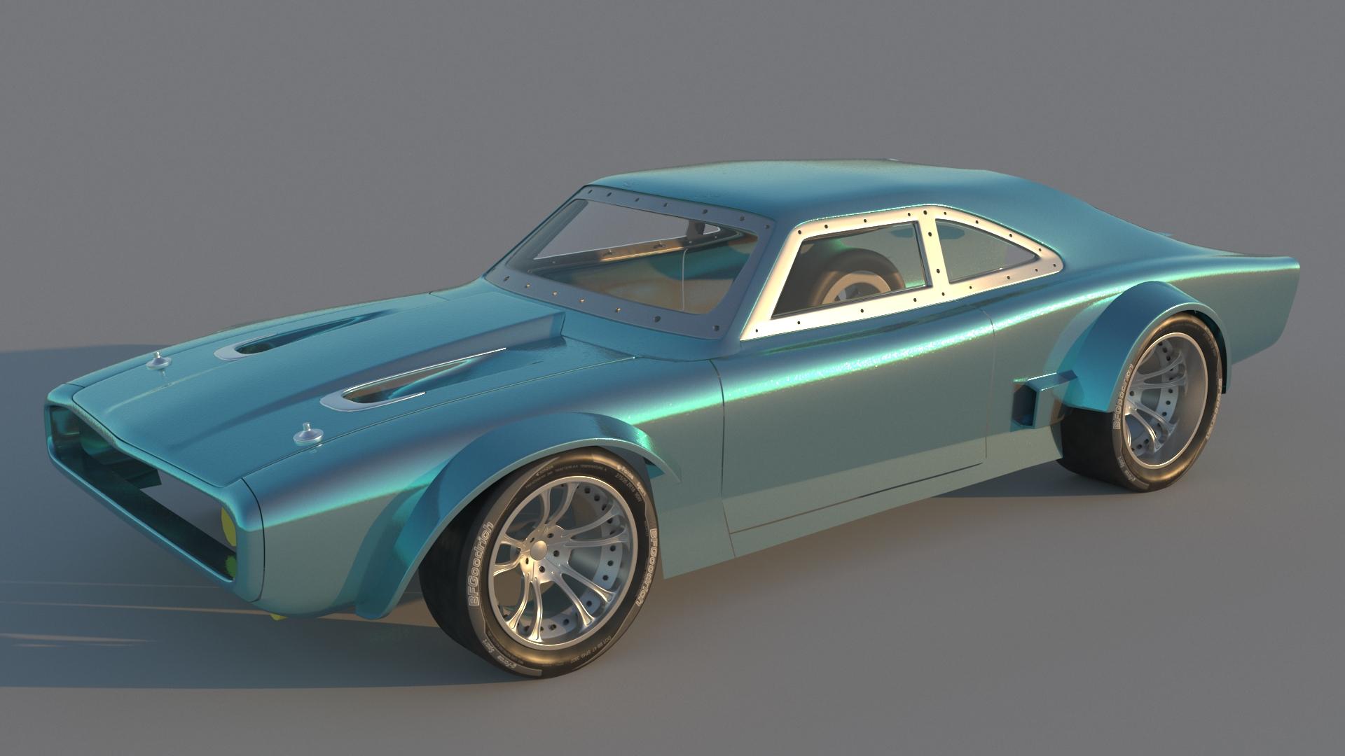 2018 Car Render Challenge - Dom's Ice Charger FF8 (Hector Suriel)