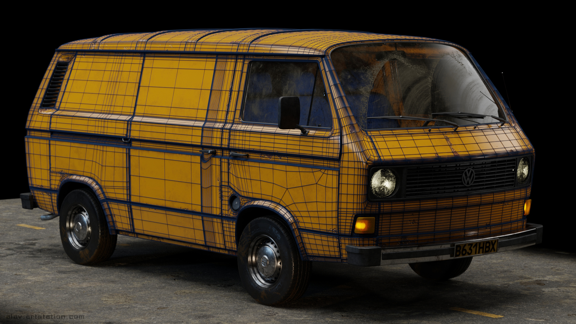 VW TRANSPORTER T3 (Car Render Challange 2018)
