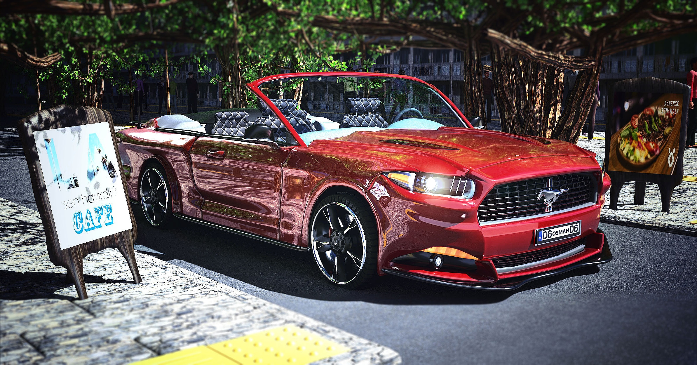 Car Render Challange - Ford Mustang