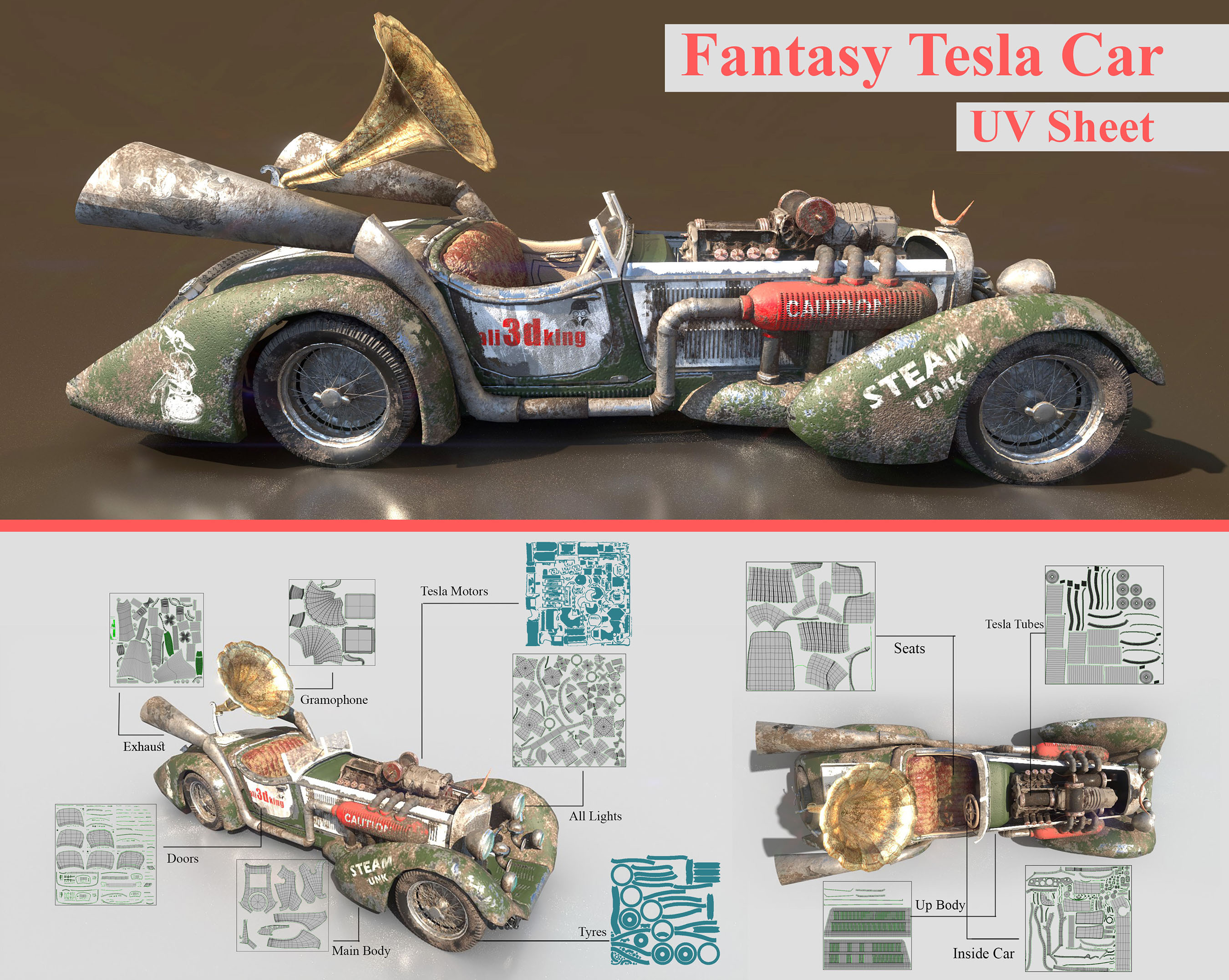 Car Render Challenge - Fantasy Tesla Car