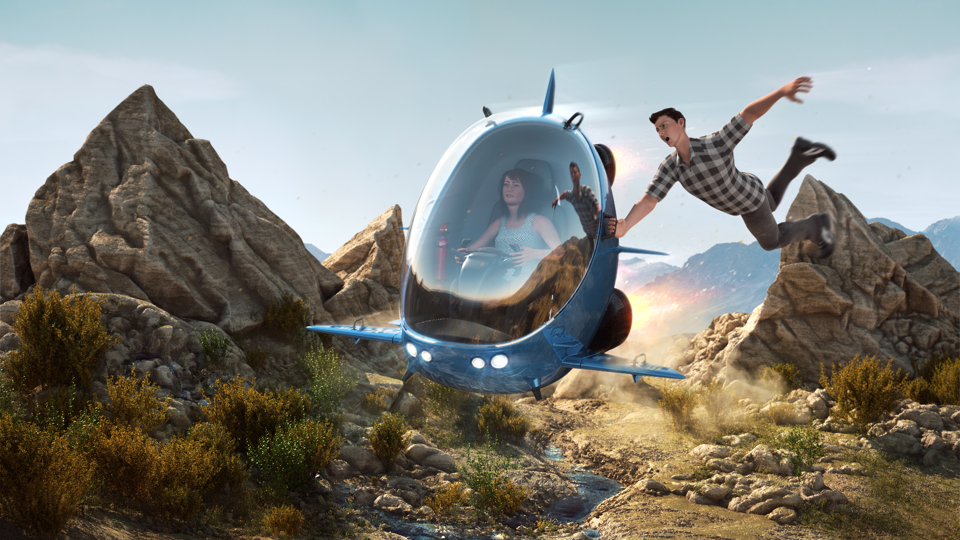 Car render challenge - Flying Machine