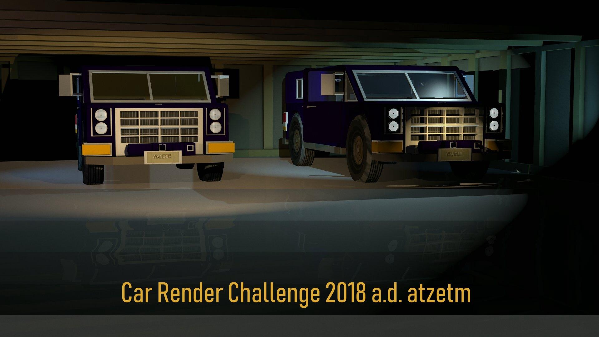 Car Render Challenge 2018 atzetm