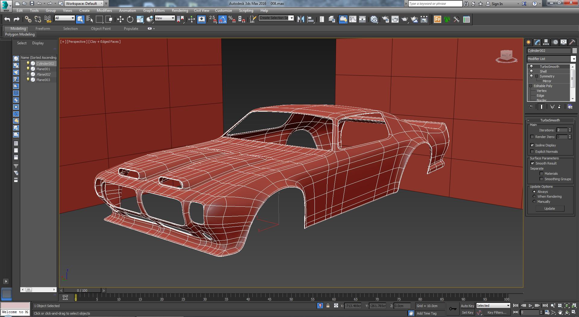 Car render challenge 2018_ Pontiac firebird 1970