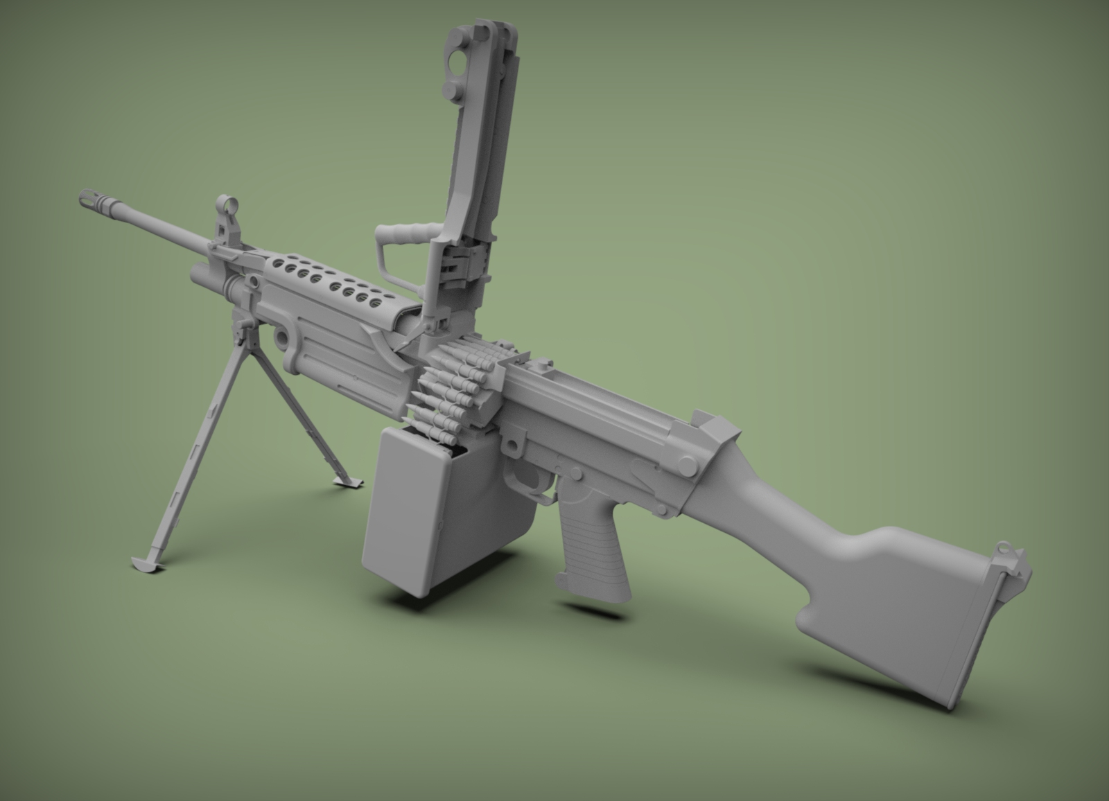 Three D Weapon - M249 SAW