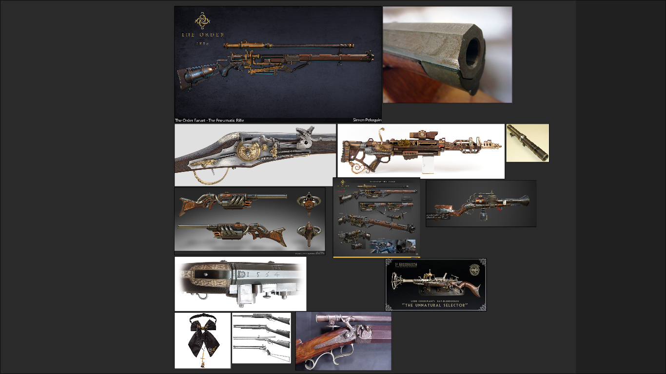 THREE D GUNS 2 - Steampunk rifle