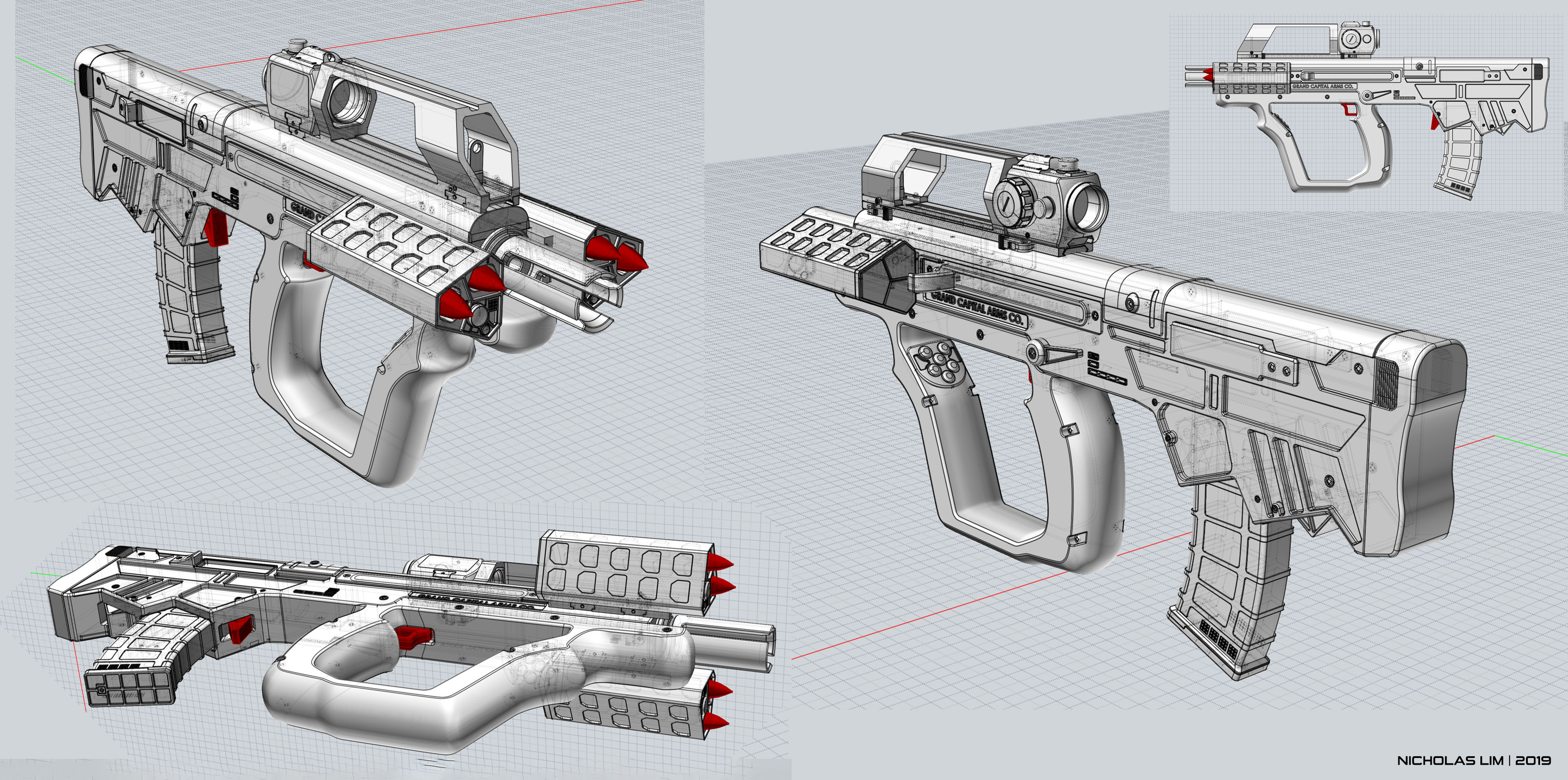 Three D Guns 2 WiP - 'Short Bow' Carbine