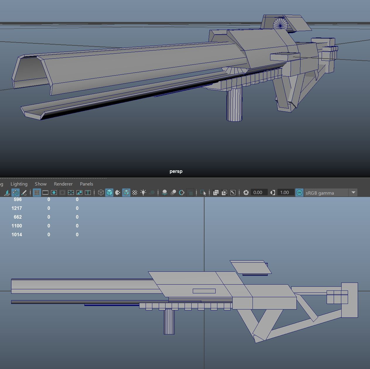 Three D Weapon - Gauss Rifle