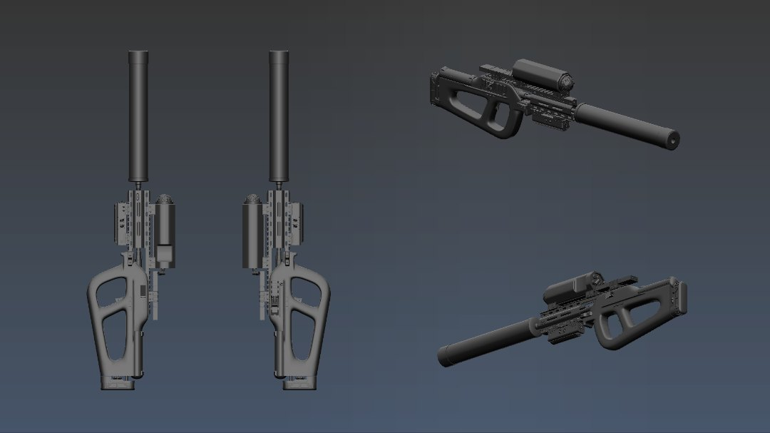Three D Guns 2 - Sci Fi Sniper Rifle