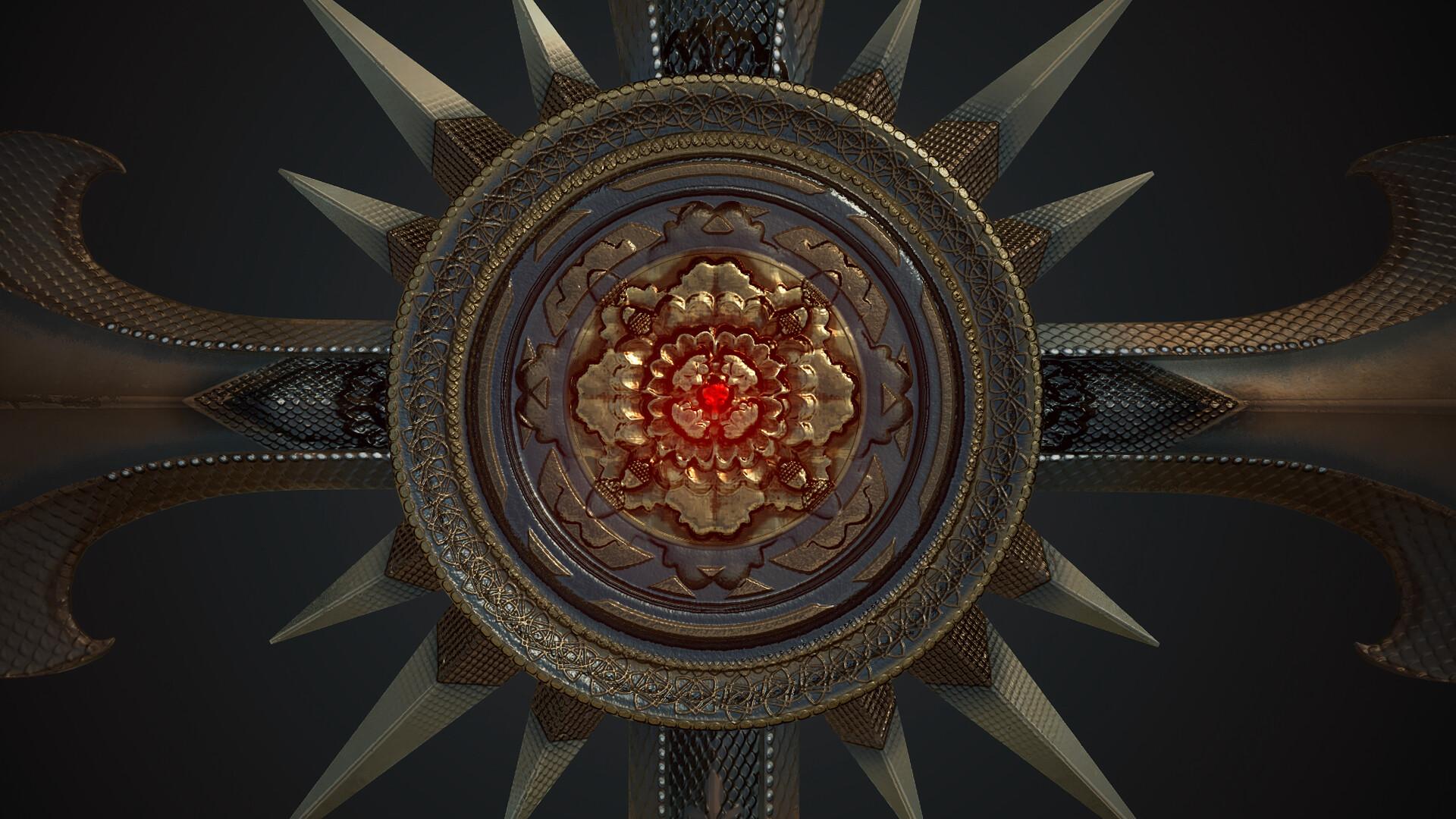 Texture work : Gold Cross