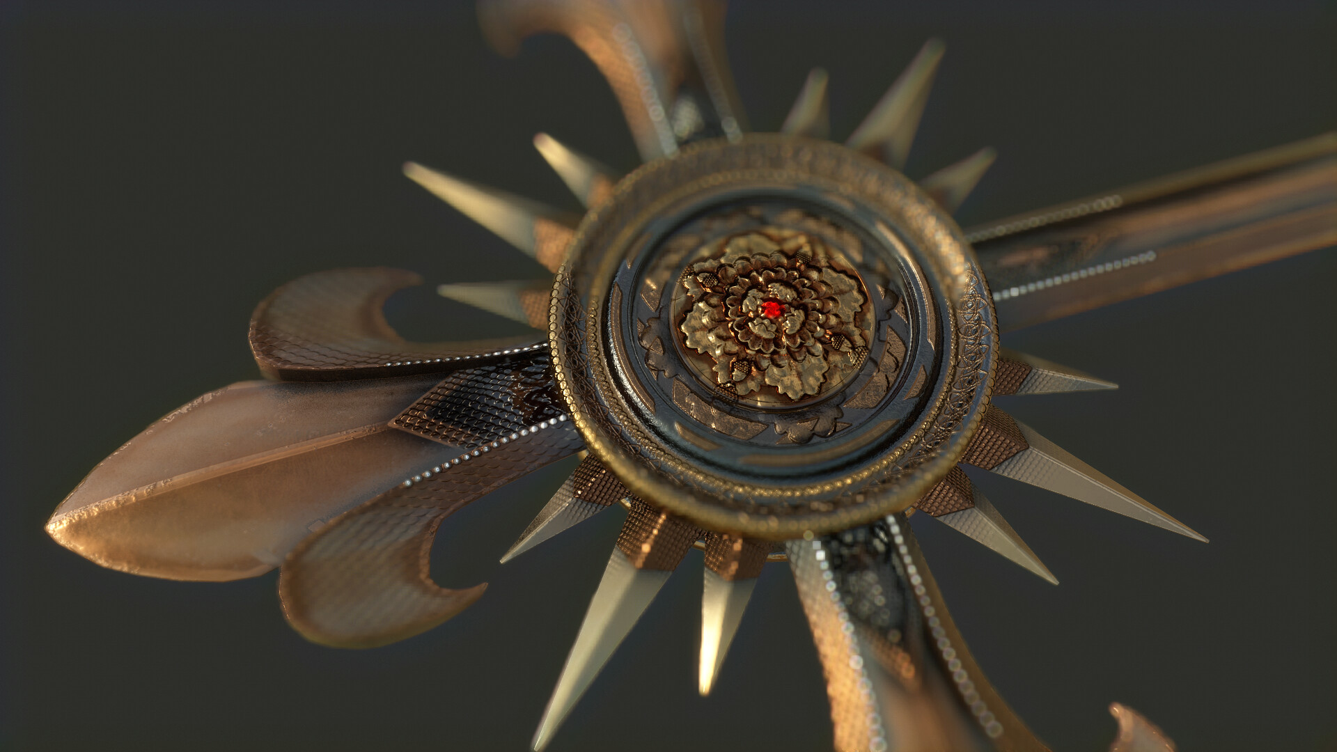 Texture work : Gold Cross