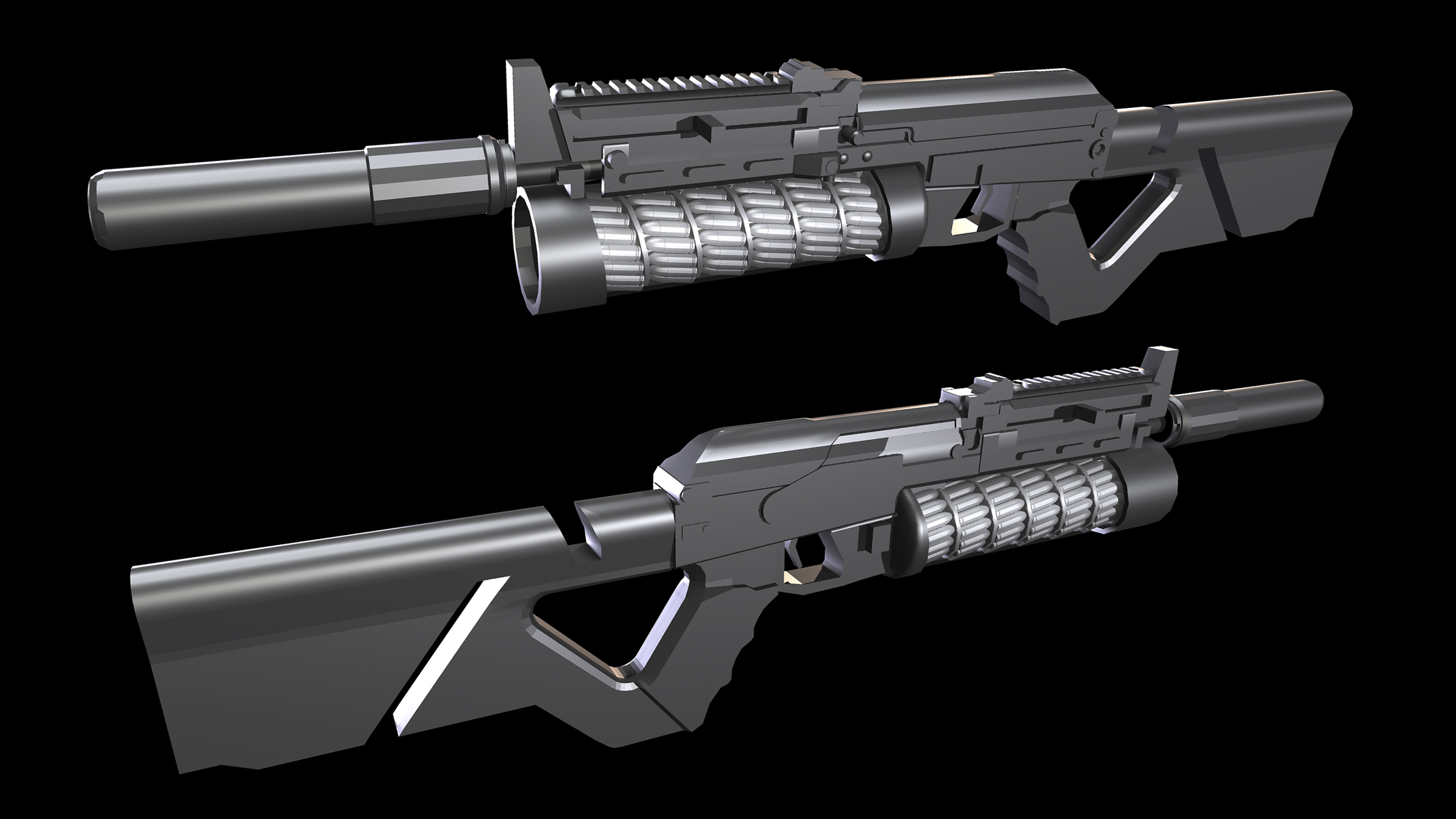 Three D Guns 2 - Bizon-IV