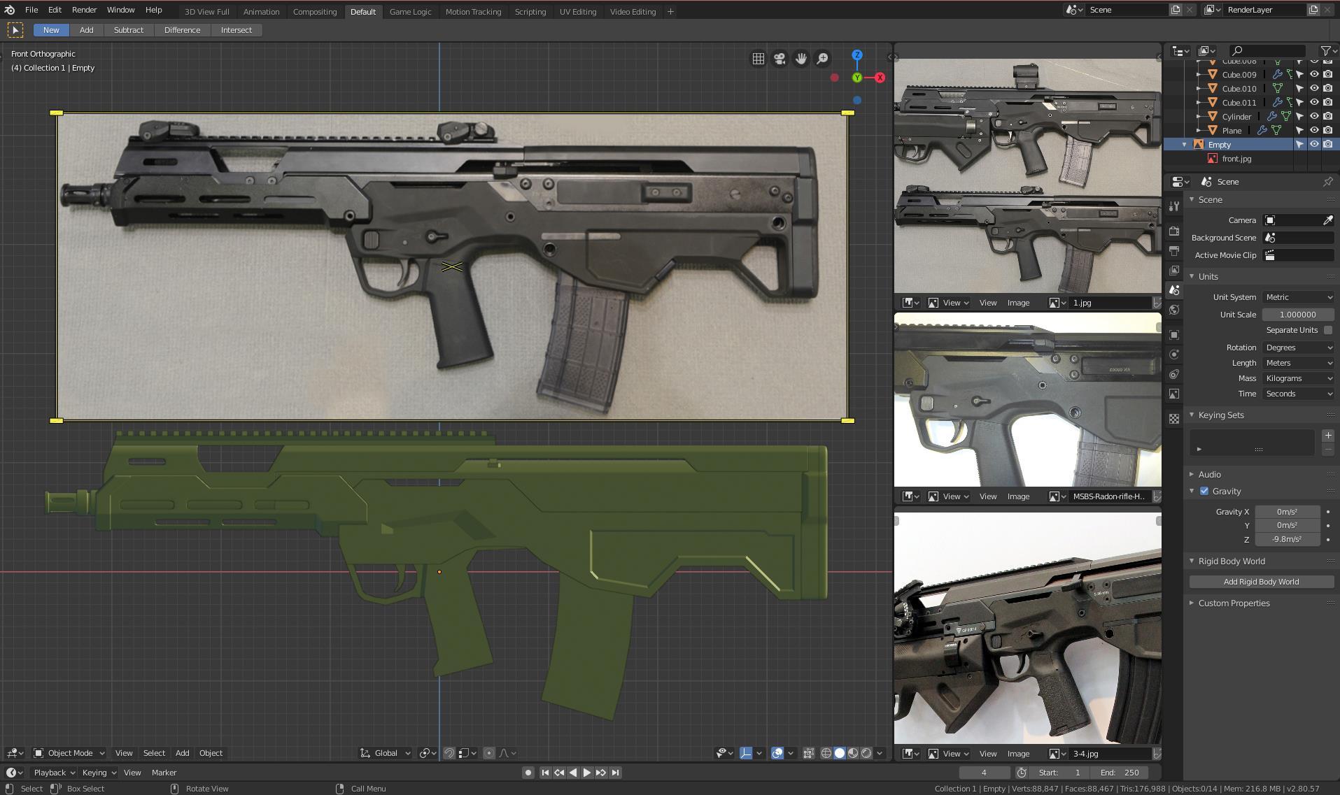 Three D Weapon - MSBS 5.56