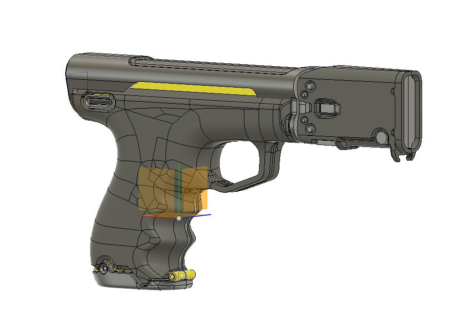 Sci-fi pistol for farmers