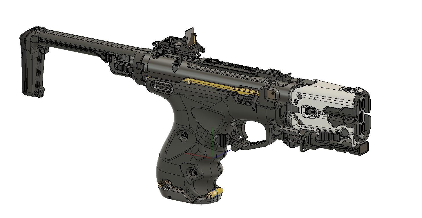 Sci-fi pistol for farmers