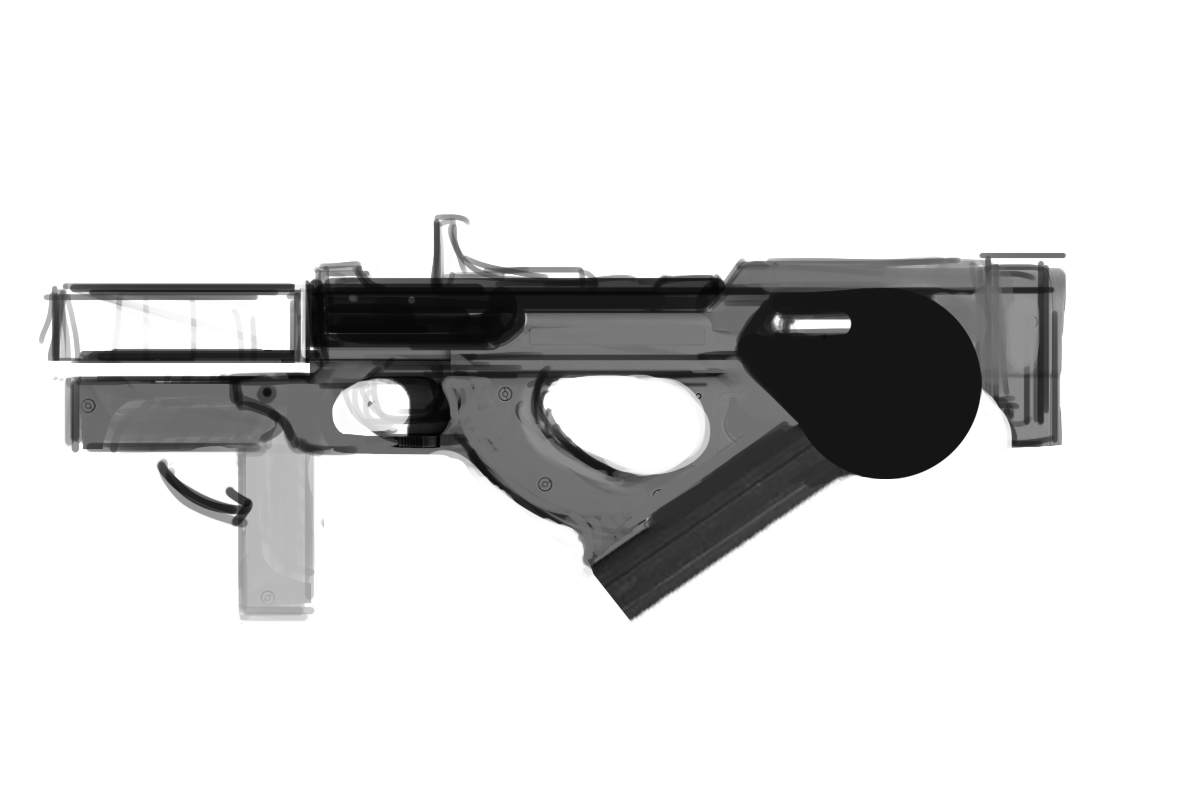 Three D Guns 2 WIP - Bullpup Rifle