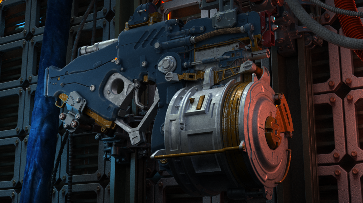 Three D Weapon - Sci-fi Laser Gun