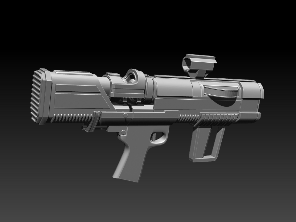 Three D Weapons Challenge WIP - Ion Pulse Rifle