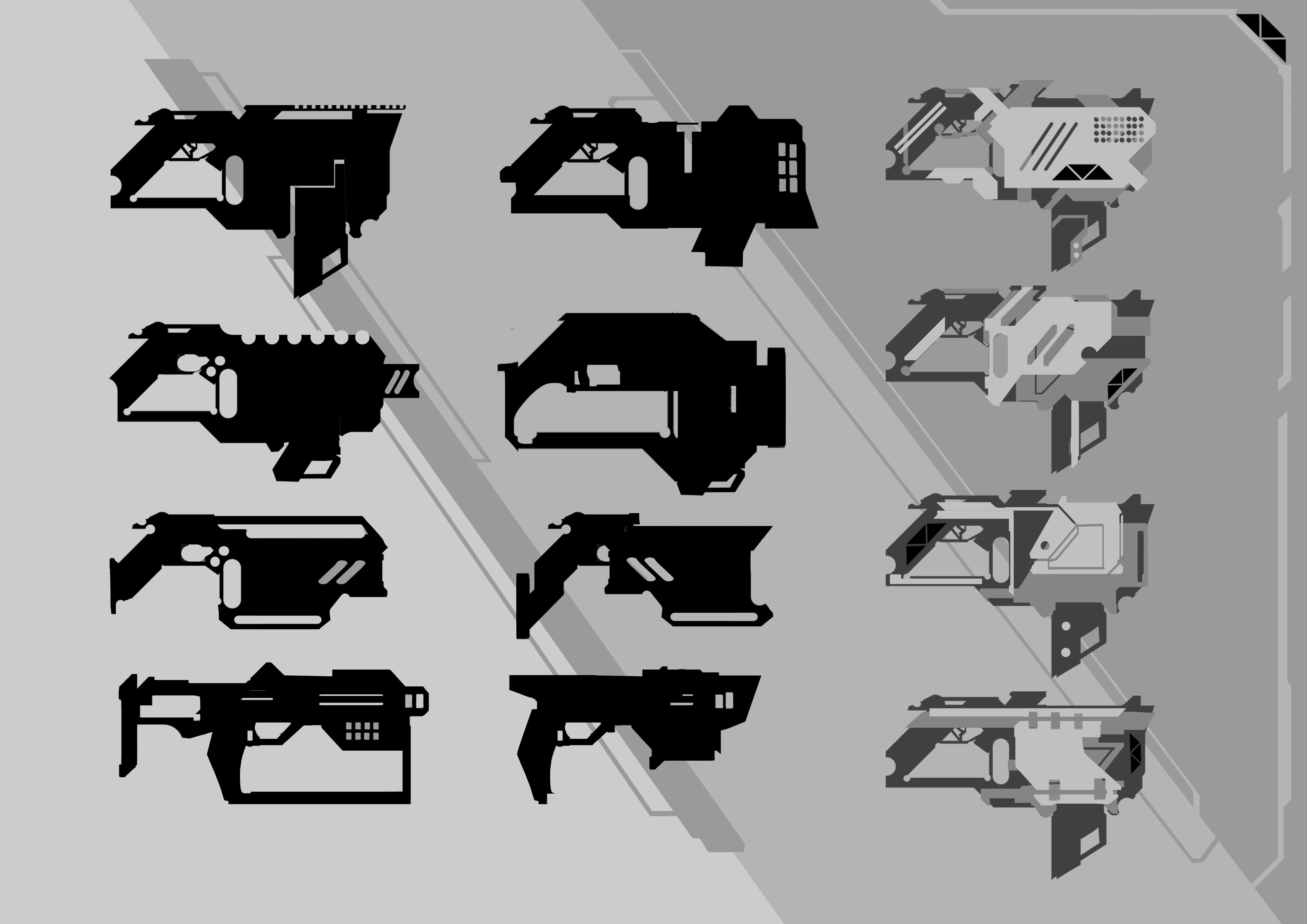 3d art challenge-sci fi gun- name project name blazer