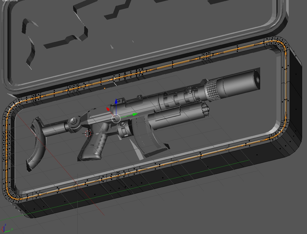 Prototype Laser Assited Projectile Gun
