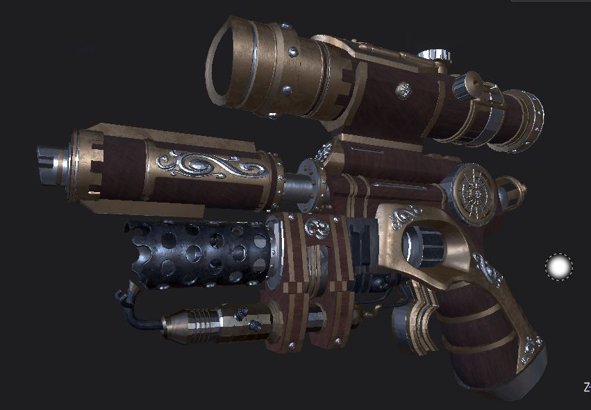 Three D Guns 2 WIP-STEAMPUNK Flamethrower Pistol