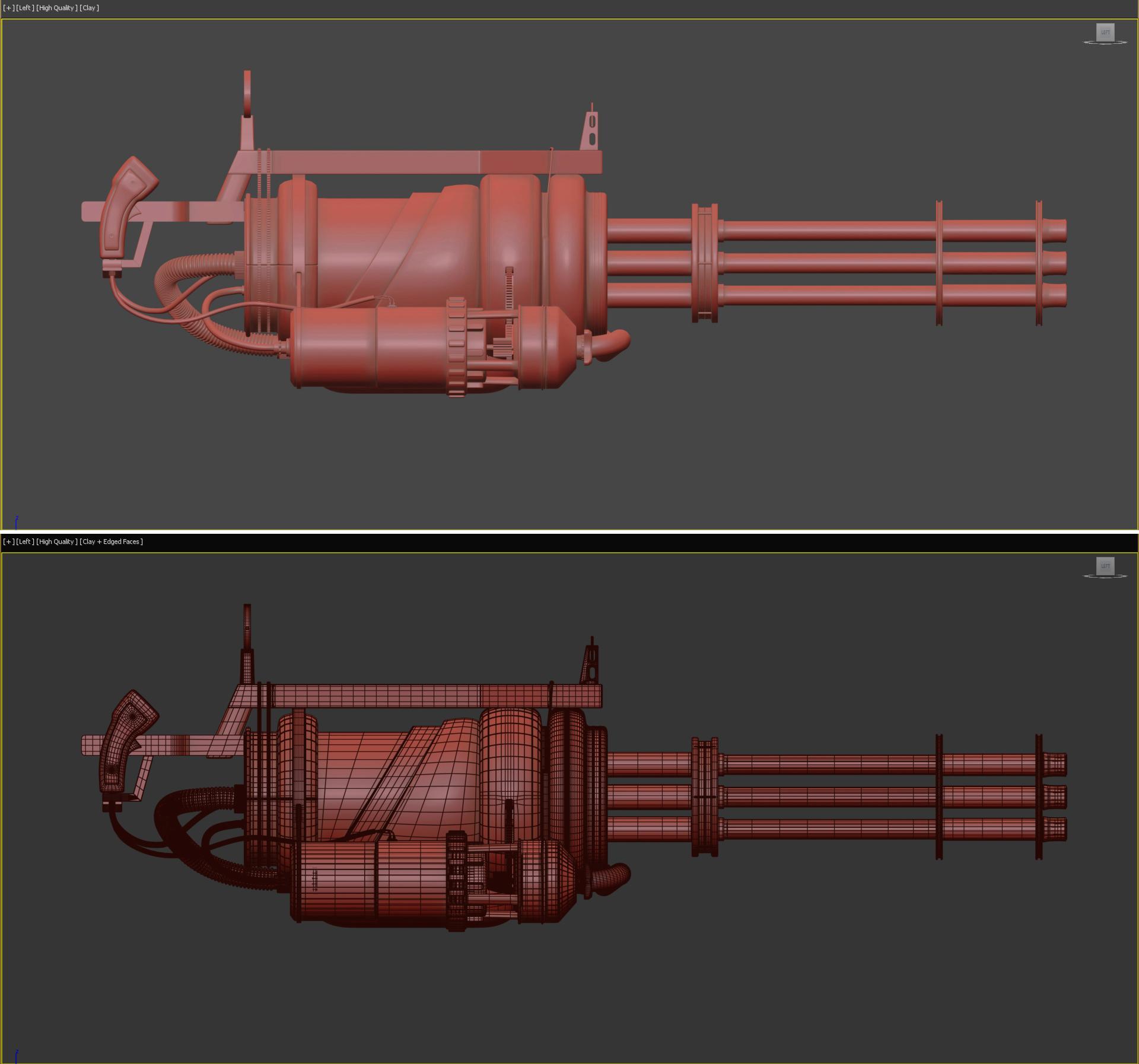 Three D Guns 2 : Paintball Handmade machine Gun -Toy