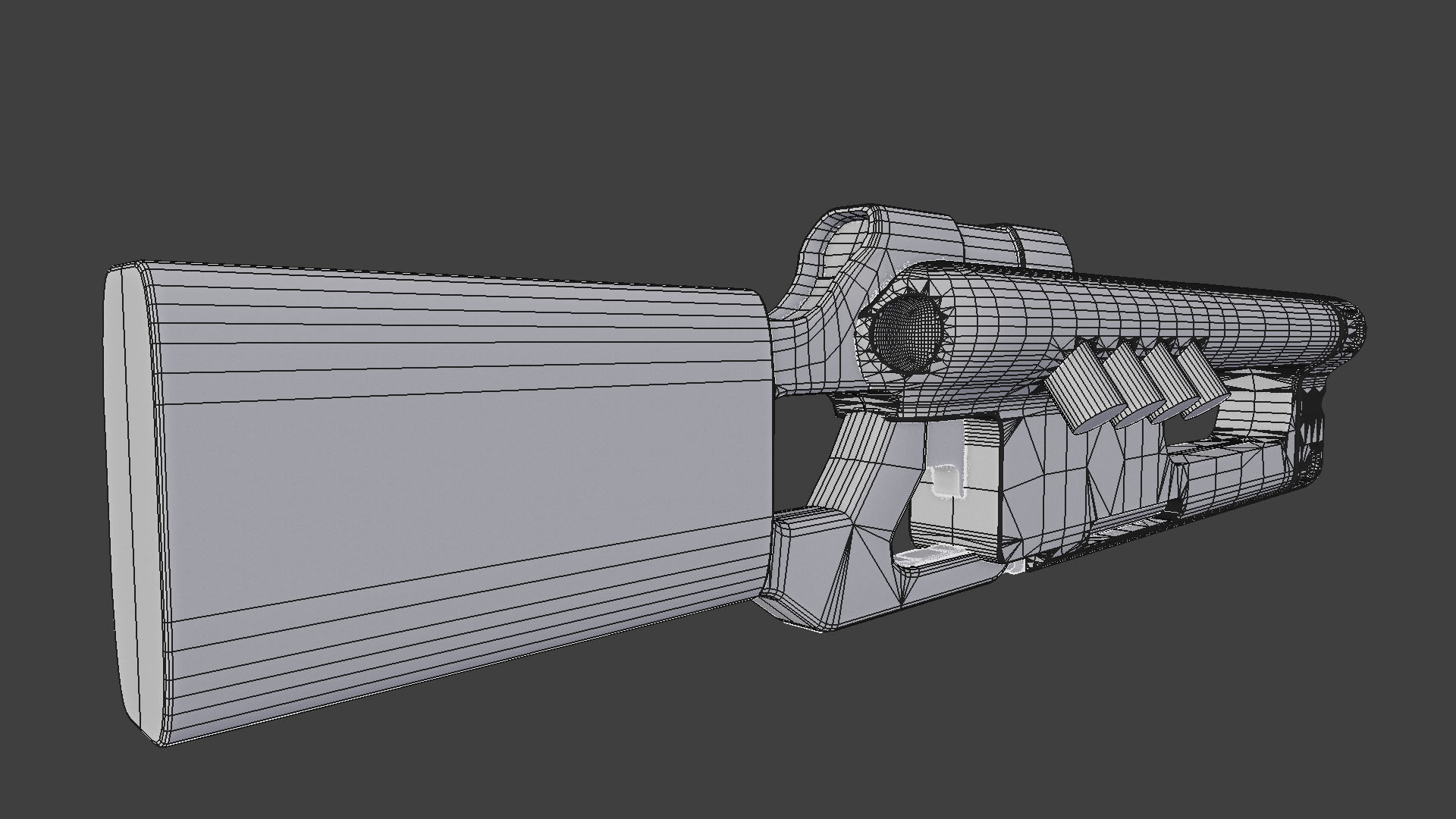 Three D Guns 2 Challenge - SciFi Blaster WIP
