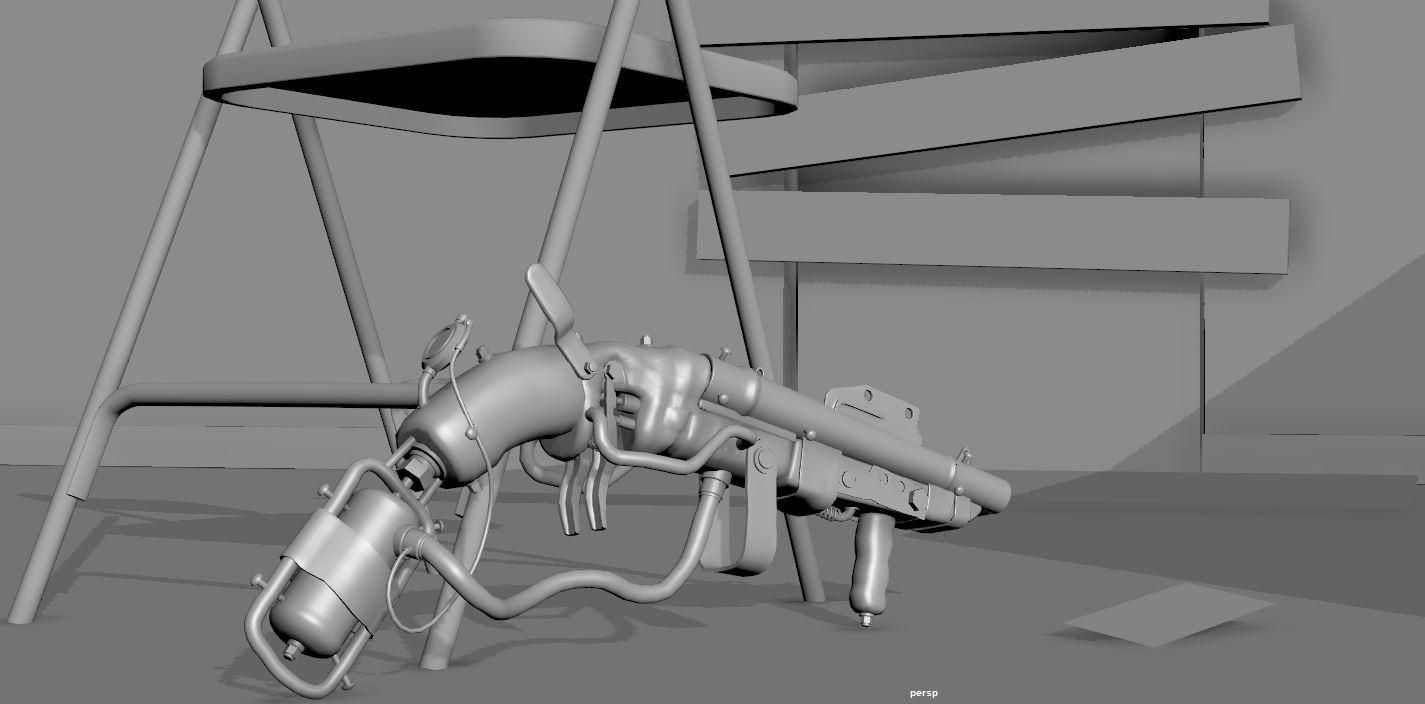 Three D Guns 2 - Challenge - Post Apocalyptic Double Barreled Shotgun