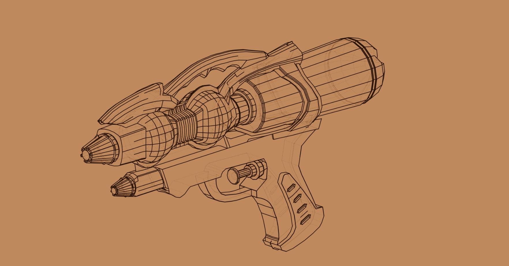 Three D Guns 2 WiP - PEW PEW
