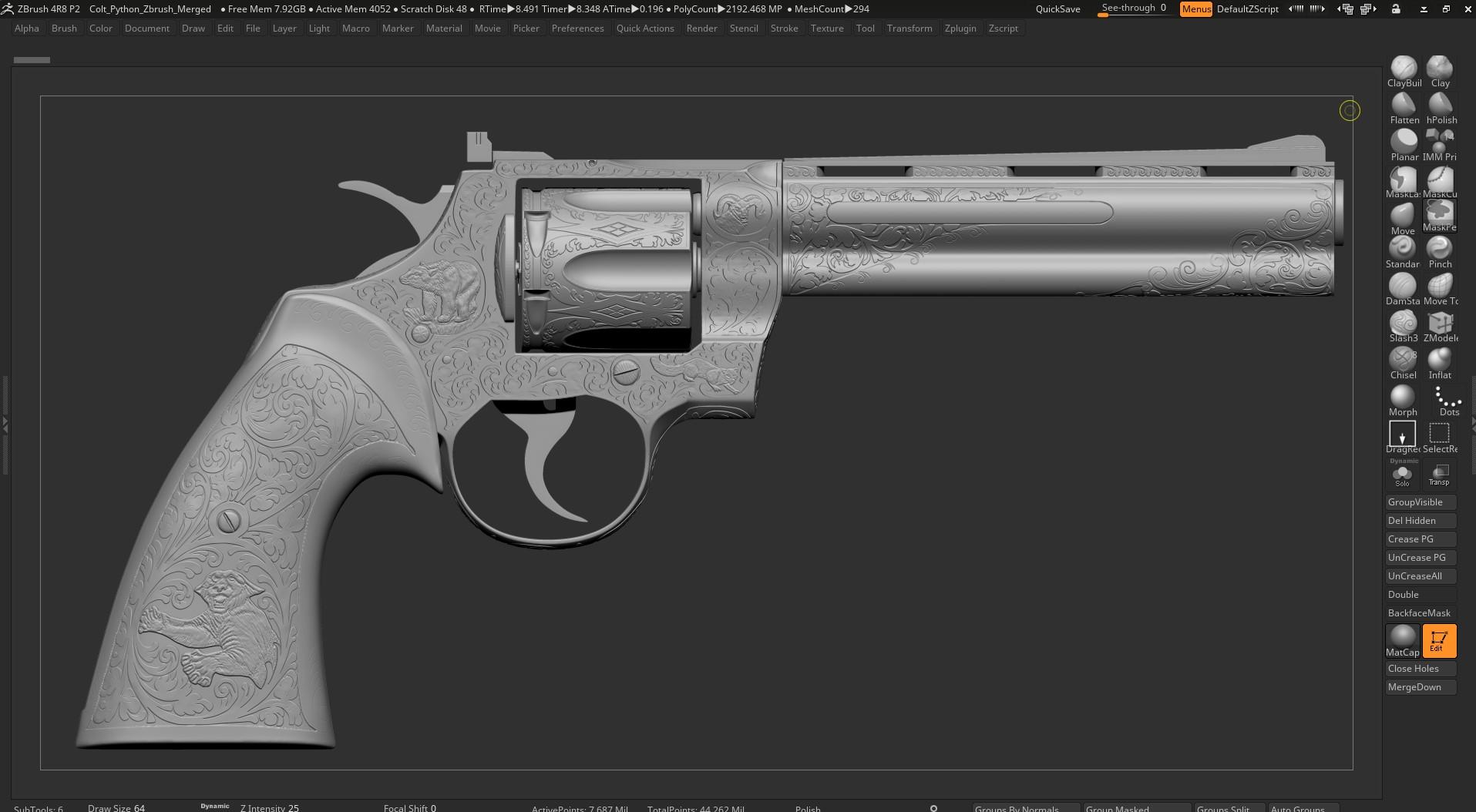 Three D Guns 2 Challenge - Elvis Revolver Memorabilia
